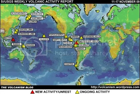 SI/USGS Weekly Volcanic Activity Report 11-17 November 2009