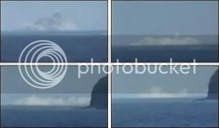 Fukutoku-Okanoba undersea volcano erupting, February 2010 (stills from Japanese Coastguard video)