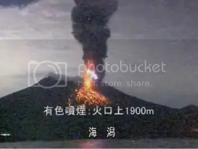 Sakura-jima eruption, 8 February 2010 (Kago-net)