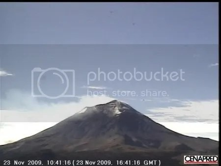 Popocatepetl, 23 November 2009 (CENAPRED)