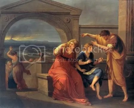 Angelica Kauffmann, 'Pliny the Younger and his mother at Misenum' (1785)