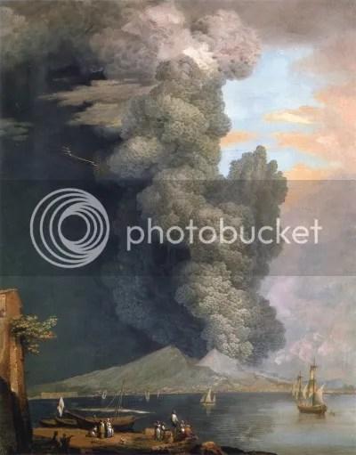 Xavier Della Gatta, 'Eruption of Vesuvius' (1794).