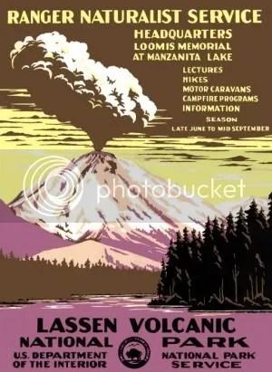 Lassen Volcanic National Park poster (1938)
