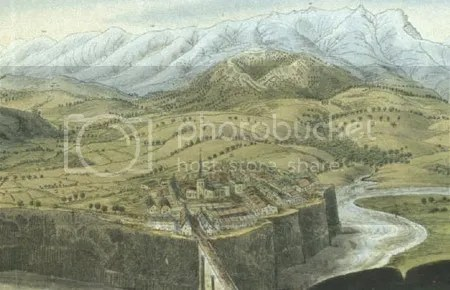 George Poulett Scrope, view of Jaujac (1827)