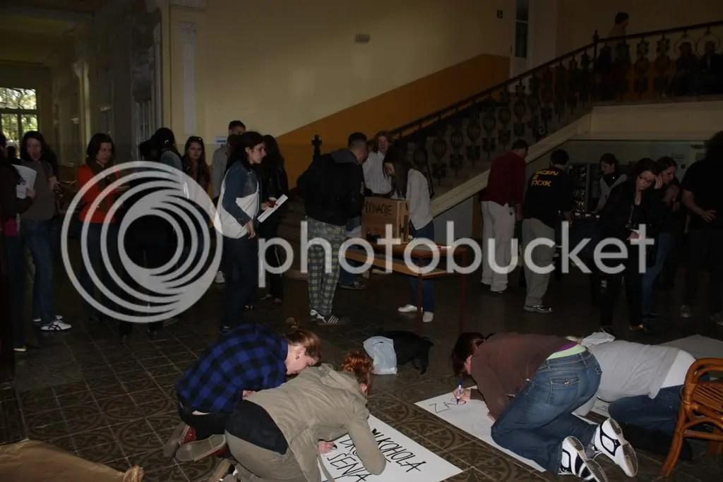 Blokada Sveučilišta u Puli 1
