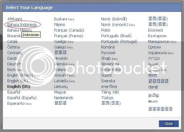 facebook bahasa indonesia
