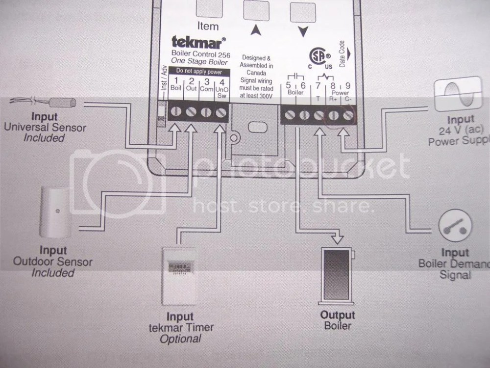 medium resolution of connections on tekmar controller