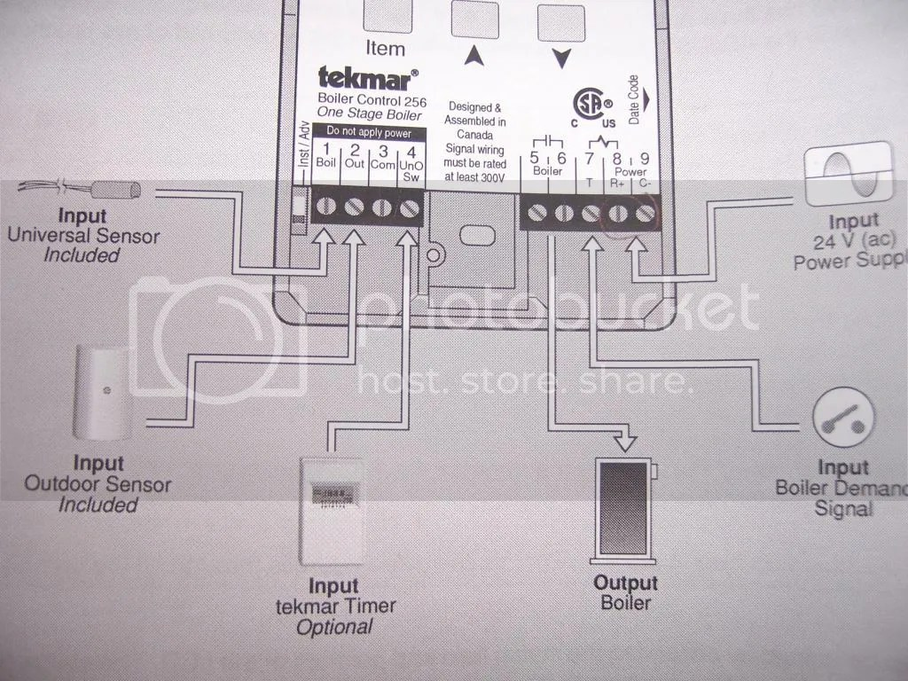 hight resolution of connections on tekmar controller