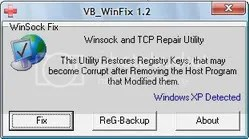 Winsock XP Fix
