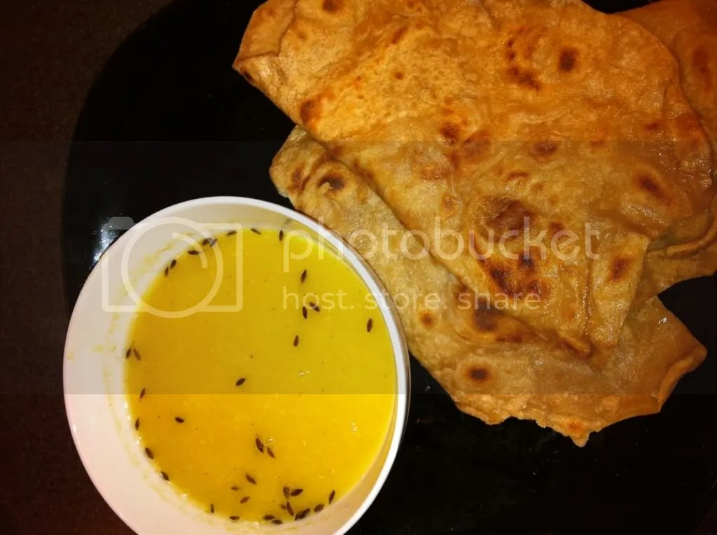 Moong Dal Soup and Paratha