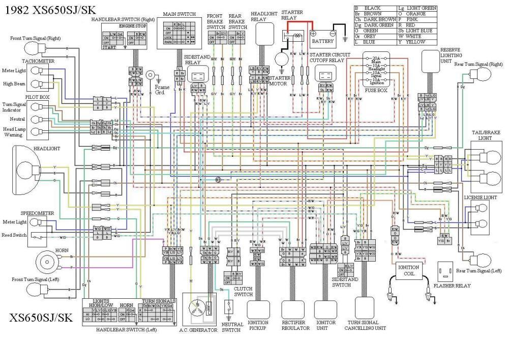 yamaha xs 360 wiring diagram yamaha yzf