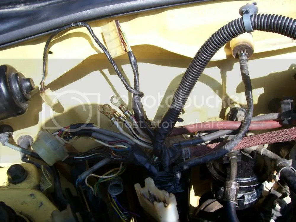medium resolution of and a pic of the wires from the headlight loom that cross into the fuse box 14 pin connector wiring these will eventually have to be extended