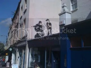 An original Banksy on Park St, Bristol