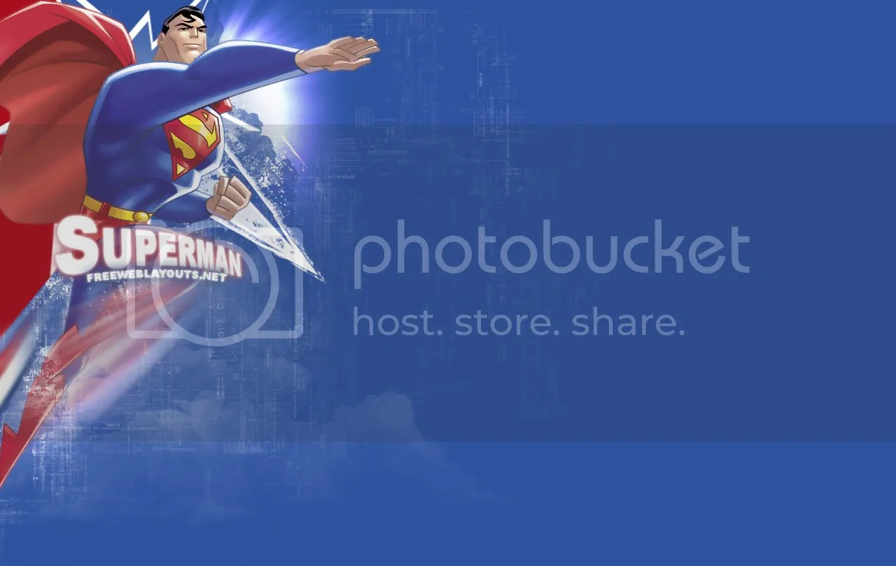 Superman Myspace Free Layout Template  Designrankercom
