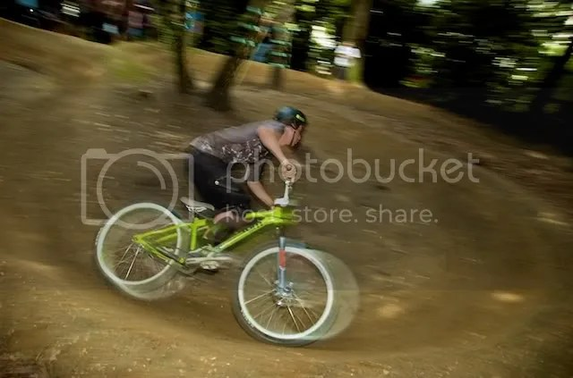 Rory riding the pumptrack, ripping round pretty quick I must say