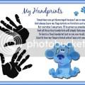 Details about blues blue s clues baby handprints scrapbook print poem