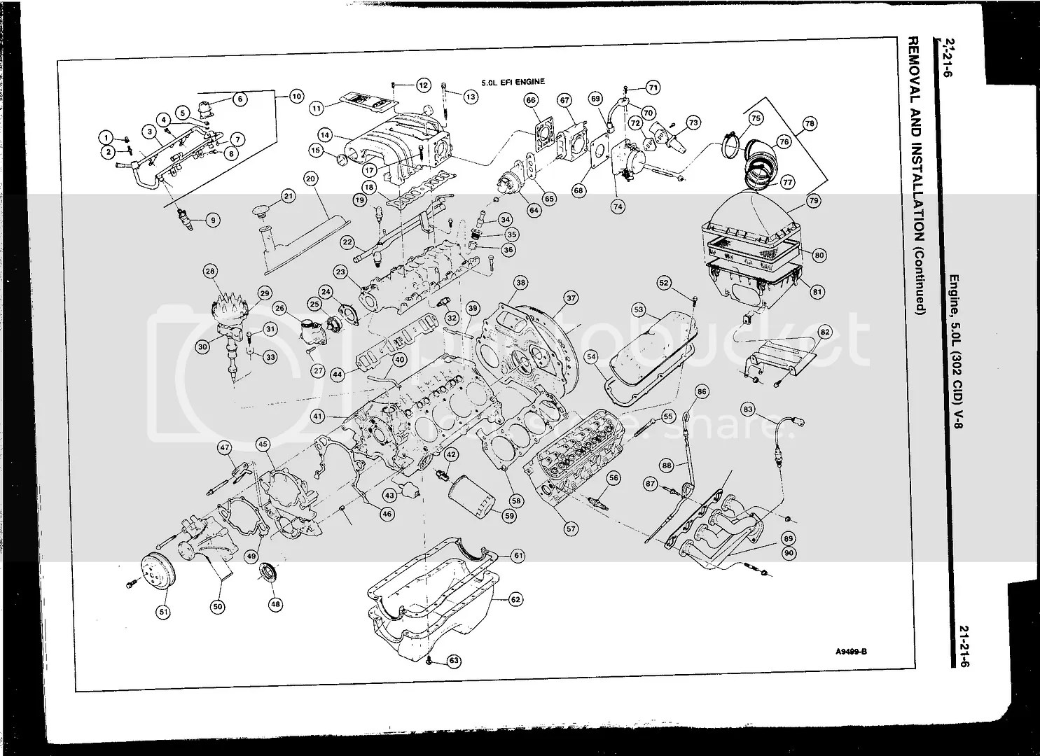 Diagram Or Picture Of 302 Assembly Front Accessories Intake Timing Cover Etc