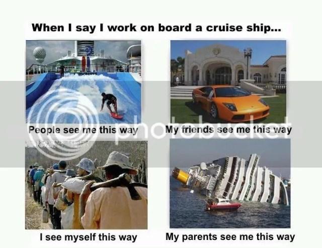 when i say i work on board a cruise ship