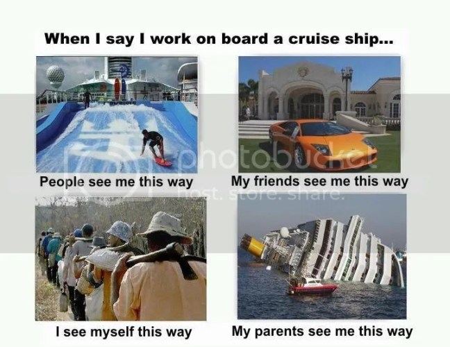 when i say i work on board a cruise ship