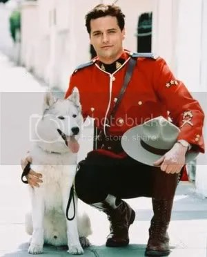 Constable Fraser with his half-wolf
