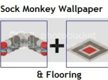 Webkinz★ SOCK MONKEY WALLPAPER + FLOORING ★ 2codes★ | eBay
