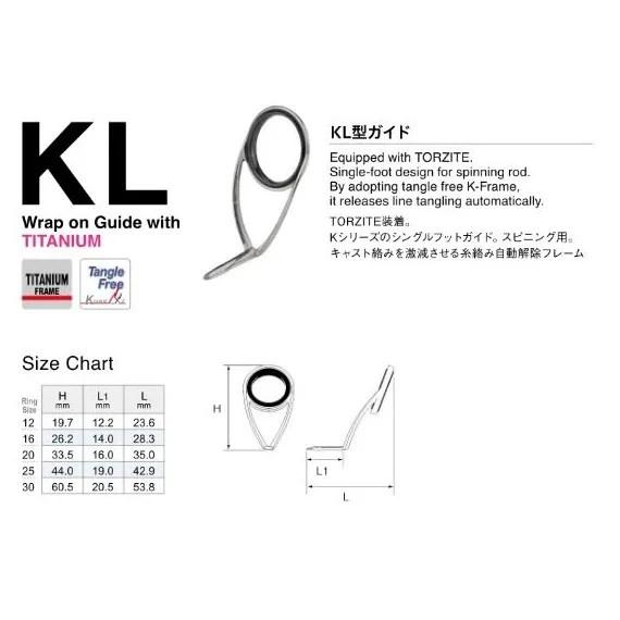Fuji T-KLTG Size 20 Rod Guide Torzite Titanium K Frame x 1