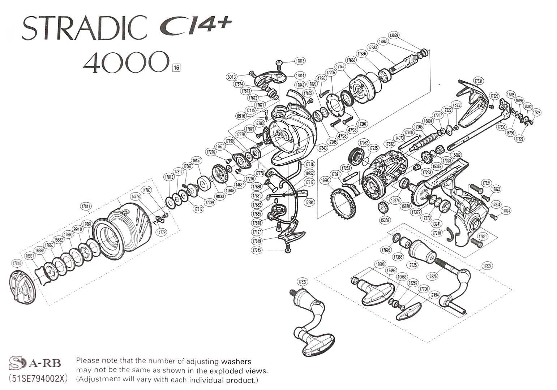 Shimano Reel Spinning Stradic CI4+ 4000 STC14-4000FB (3609
