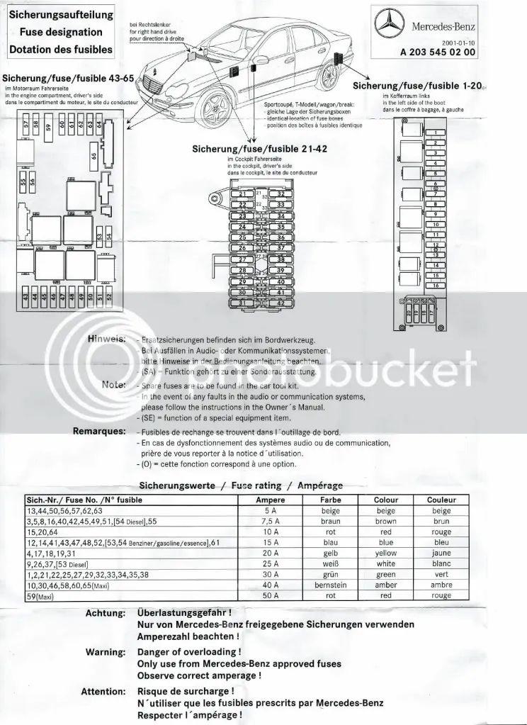 05 c240 fuse box diagram
