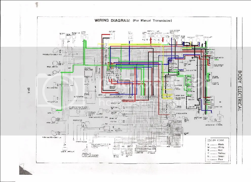 1973 240Z Color Wiring Diagram Complete W Plug Pin Outs