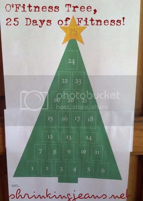 O'Fitness Tree, 25 Days of Exercise! A Holiday Fitness Advent Calendar. shrinkingjeans.net #fitness #exercise #calendar