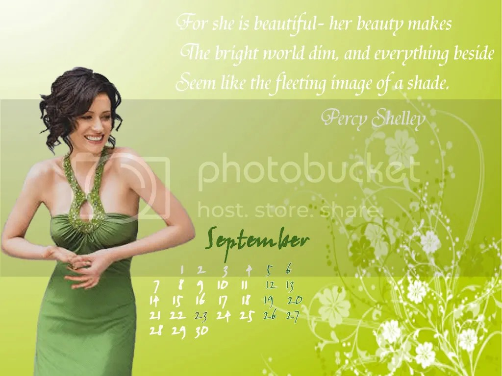 Paget Brewster - Calendar September 2009