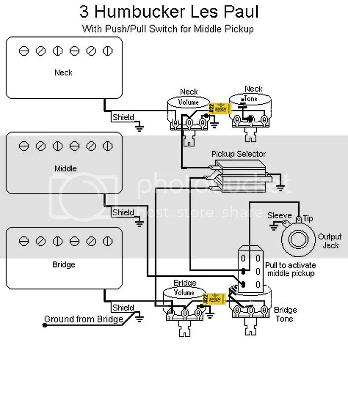 3 Humbucker Les Paul Wiring Question