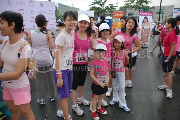Our familys very pink race contingent -
