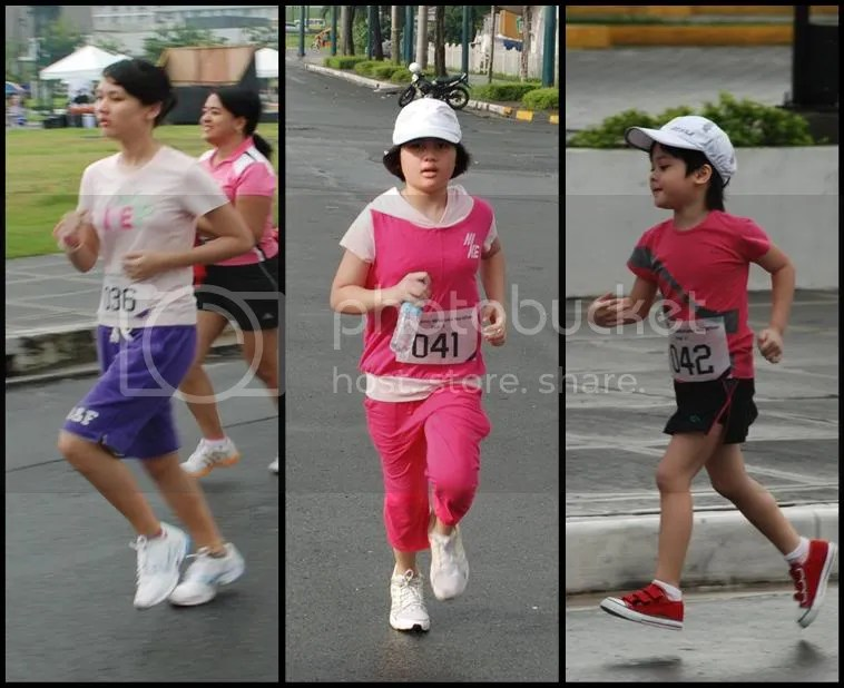 our 2 girls and a daughter ;)  great running form, dont you think so?