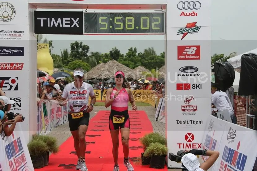 Fernando Zobel de Ayala and Sen. Pia Cayetano finishing together
