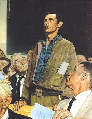 Norman Rockwell's Town Meeting