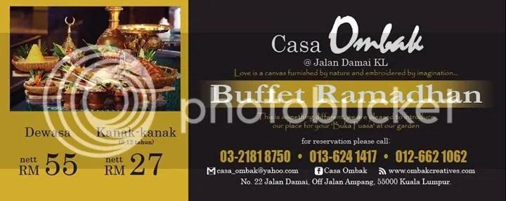 Buffet Ramadhan Casa Ombak Price
