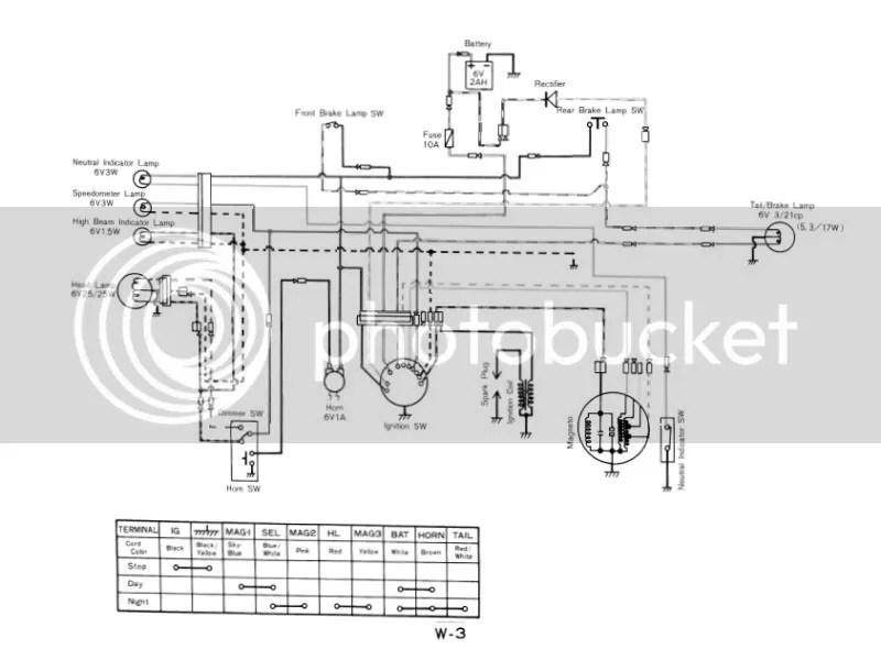 Kawasaki 100 2-stroke Wiring Diagram