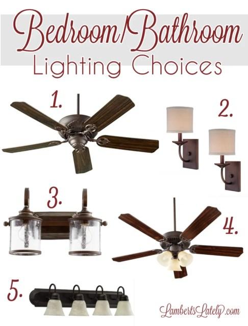 Bronze lighting || farmhouse inspired lighting || bedroom lighting || bathroom lighting || farmhouse light fixtures || new construction || lighting fixtures || lighting design || lighting ideas