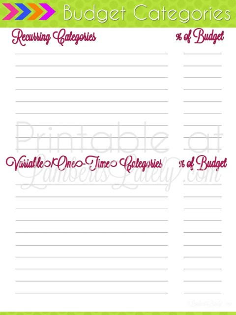 ultimate planning notebook add on budget tracking printables