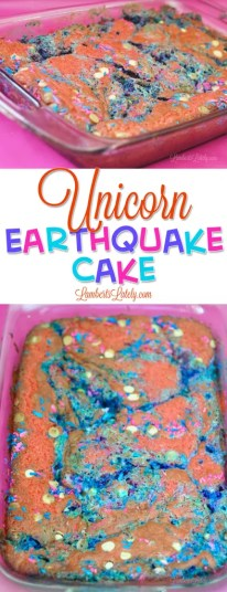 Unicorn Earthquake Cake || Rich Fruity Cake || Frosting Berry Strawberry Jello Mix Kool Aid || Frappuccino