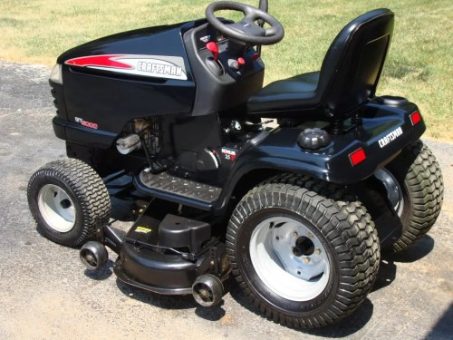 small resolution of craftsman gt5000 garden tractor 25hp 48 034 deck
