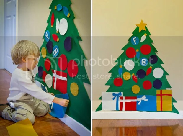 Alternative Christmas Tree Ideas Felt Kids Tree Ornaments Presents Wall Star Non Traditional