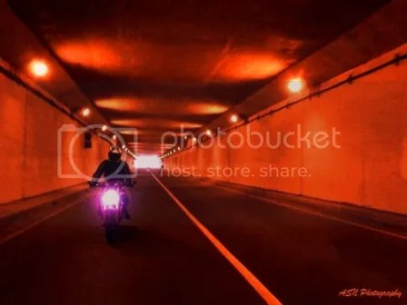 Lonly Ride in the Tunnel