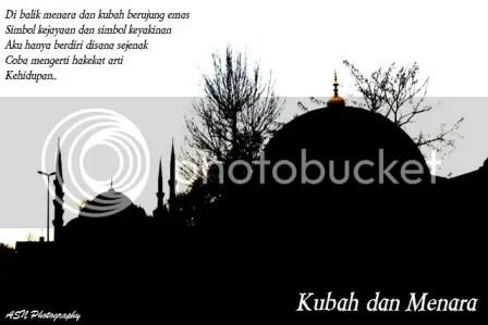 Kubah dan Menara, Foto siluet 'Kubah dan Menara' ini adalah sebagian bangunan Aya Sofya dan Blue Mosque ini kuambil di Istanbul, tanggal 15 Februari 2012, pukul 15.43 waktu setempat.