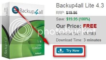 Bản quyền Backup4all Lite 4.3 miễn phí