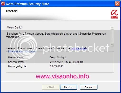 Avira Premium Security Suite V10 miễn phí 6 tháng