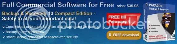 Nhận bản quyền Paragon Backup & Recovery 10 Compact miễn phí