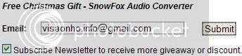 Bản quyền SnowFox Audio Converter miễn phí