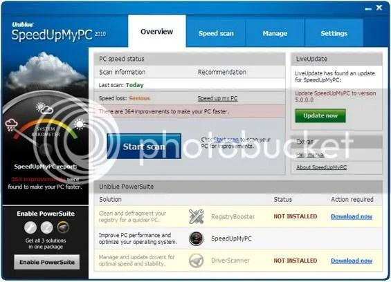 Bản quyền Uniblue SpeedUpMyPC 2010 miễn phí 1 năm